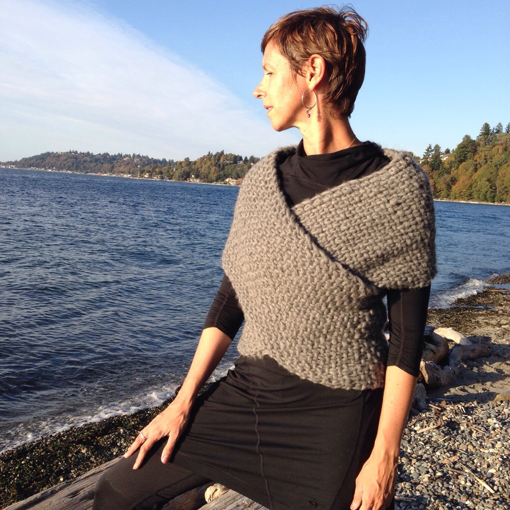 Knitting Pattern Wrap Over Cardigan : The ?Cross My Heart? sweater wrap! SeattleSpinner